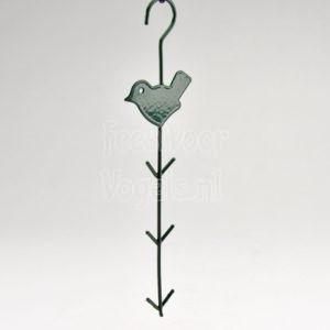 Hanger met vogel voor bollen of netjes