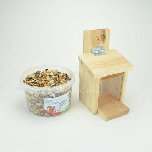 Eekhoorn-pakket, voederhuis en smulvoer