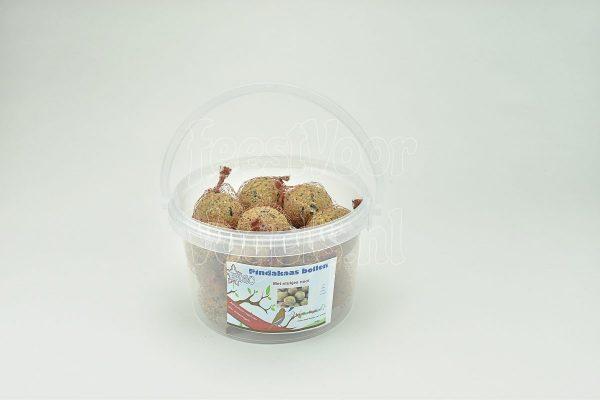 Mezenbol met vogelpindakaas, 15 stuks in emmer, Happy Bird