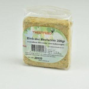 Vetblok met meelwormen voor tuinvogels