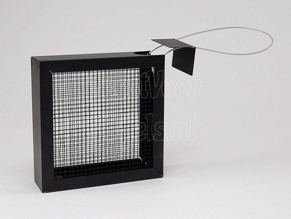 Vierkante pinda/zonnebloempit feeder