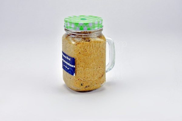 Vogelpindakaas in XXL Mason-Jar,  400 ml.