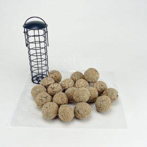Ambachtelijke mezenbollen zonder net(20 st.), met houder