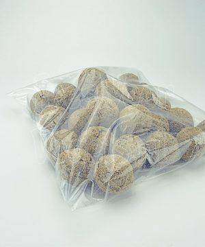 mezenbollen zonder net in hersluitbare zak