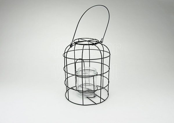Vogel-pindakaas-pot houder met emmer navulpindakaas
