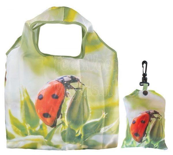 Opvouwbare boodschappentas met lieveheersbeestje, Esschert