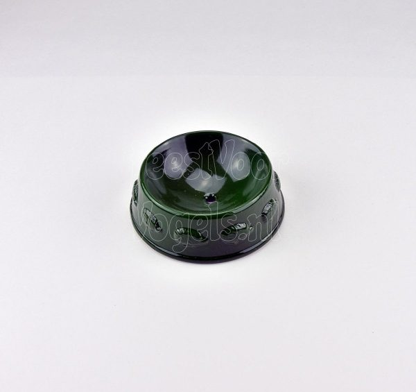 Strooivoer houder, aged metal green, Esschert Design