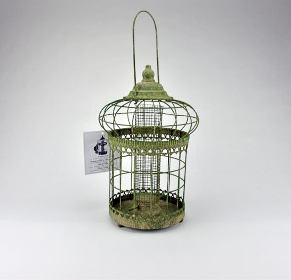 Pinda houder, aged metal green, Esschert Design