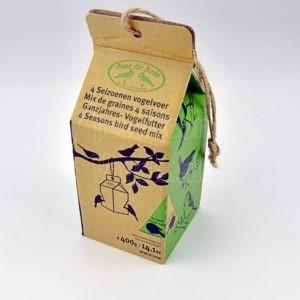 Strooivoer in een melkpak, Esschert Design