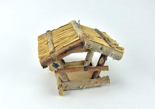 Hangend vogelhuisje met rieten dak | Ann