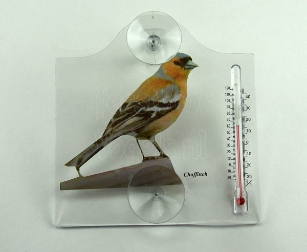 Raam thermometer met vogel afbeelding