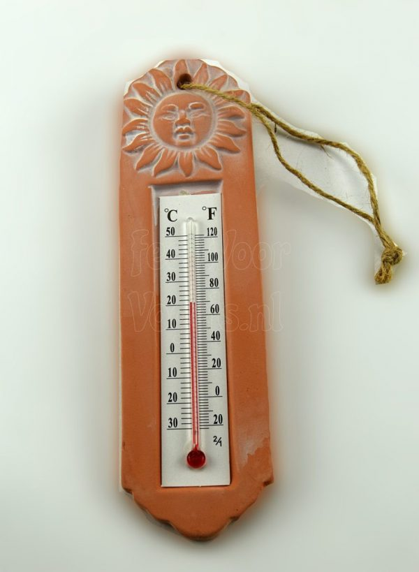 Thermometer terra cotta
