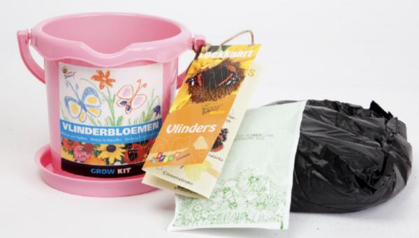 Buzzy Kids emmer vlinderbloemen.
