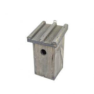 Mezen nestkast grijs met rib dak