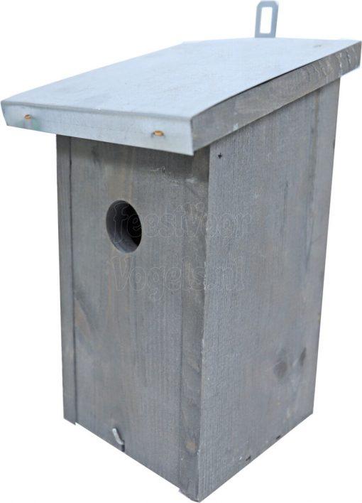 mezennestkast grijs met zinken dak