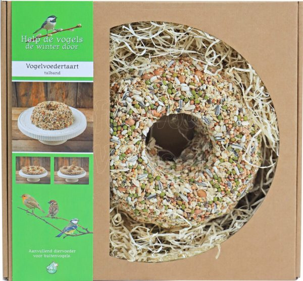 Vogelvoedertaart in tulbandvorm.