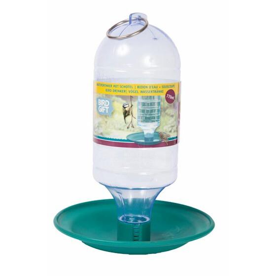 Waterdrinker met schotel