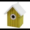Vogelnestkast geel met wit dak
