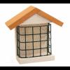 Birdcake houder van hout en metaal.