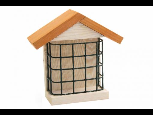 birdcake houder huismodel hout