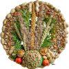 Voederkrans met pindanet+decoratie