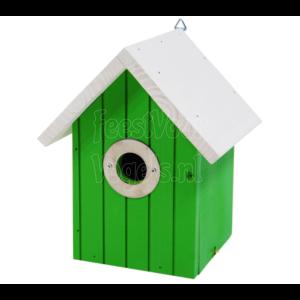 Vogel nestkastje licht groen.
