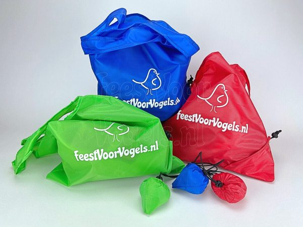"Opvouwbare tas ""feestvoorvogels.nl"""