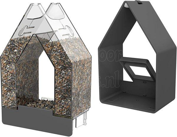Landhaus bird feed dispenser mosgroen.