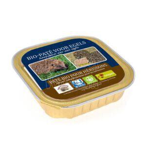 Bio-paté voor egels.