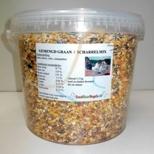 Scharrelmix/gemengd graan 3,5 kg in emmer